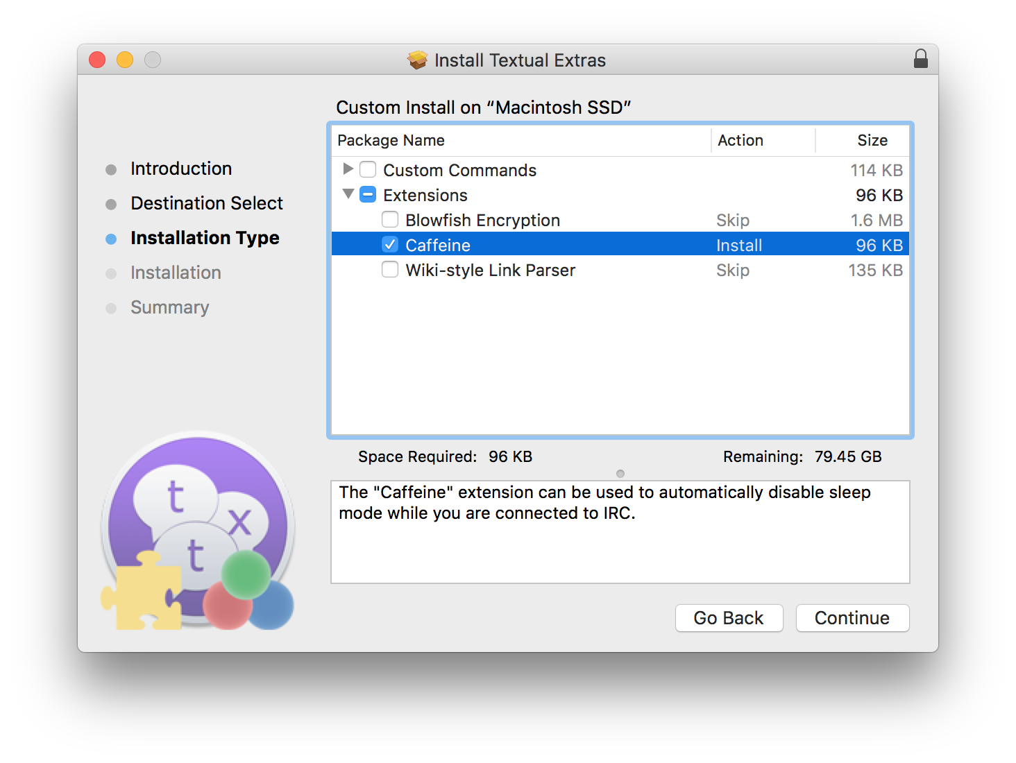 Textual IRC Client Knowledge Base - Stopping your Mac from